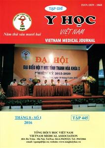 Tạp chí Y học Việt Nam Tháng 8