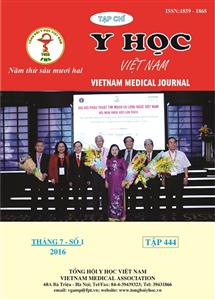 Tạp chí Y học Việt Nam Tháng 7