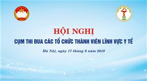 Hội nghị Cụm thi đua các tổ chức thành viên Lĩnh vực Y tế năm 2019
