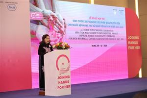Lễ Ký kết hợp tác Tăng cường tiếp cận các liệu pháp điều trị tiên tiến cho người bệnh ung thư vú nguy cơ cao giai đoạn 2020 – 2025