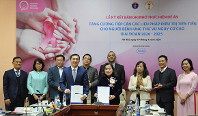 Lễ ký kết hợp tác thực hiện Đề án Tăng cường tiếp cận các liệu pháp điều trị tiên tiến cho người bệnh ung thư vú nguy cơ cao giai đoạn 2020 - 2025