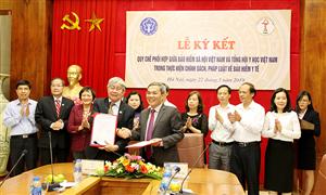 Tổng hội Y học Việt Nam và BHXH Việt Nam ký kết quy chế phối hợp