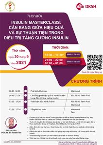 THƯ MỜI: Tham dự Hội thảo khoa học trực tuyến Cân bằng giữa hiệu quả và sự thuận tiện trong điều trị tăng cường Insulin