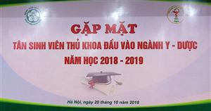 Gặp mặt Tân sinh viên thủ khoa các trường Đại học y, dược các tỉnh phía Bắc năm học 2018-2019